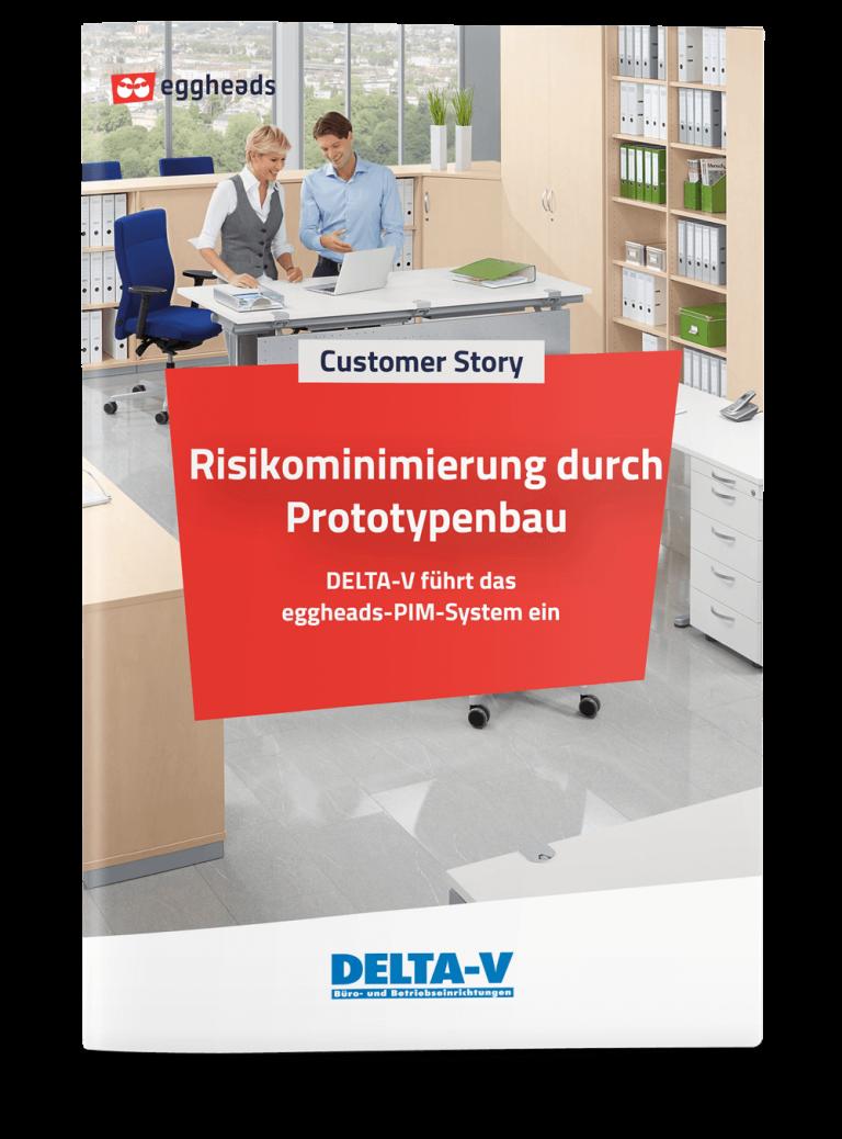 Titelseite der DELTA-V Customer Story mit heller Büroszene   eggheads.net