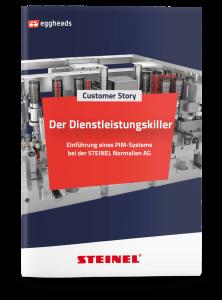 Titelseite der STEINEL Customer Story mit Maschinenteil | eggheads.net
