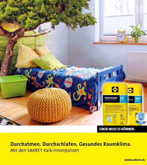 Werbung für SAKRET-Produkt Kalk-Innenputz   eggheads.net
