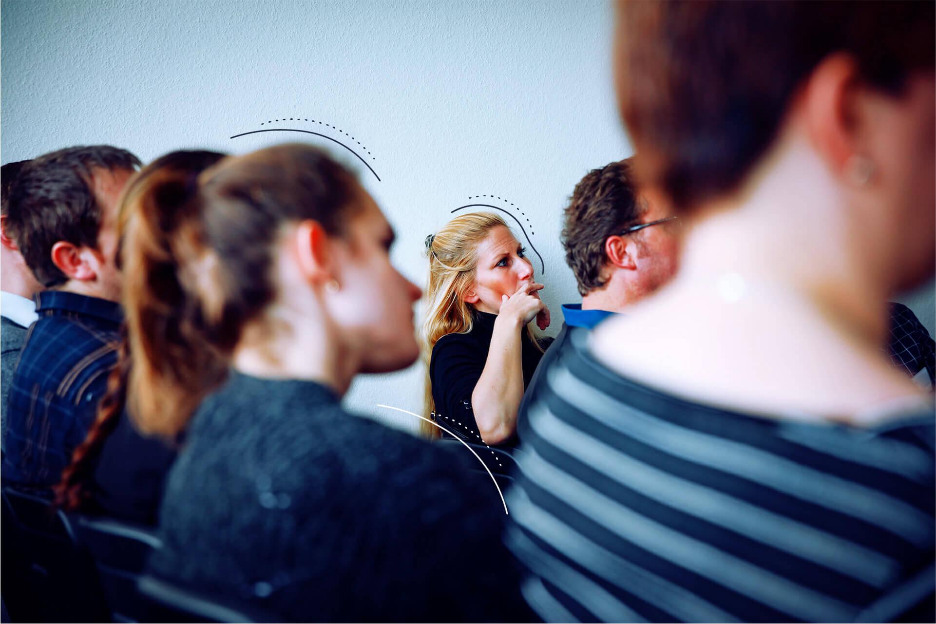 Personen die an einer Academy teilnehmen. | eggheads.net