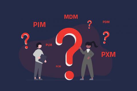 Illustration des Nameswirrwarr's von PIM, MDM, PXM und Co. | eggheads.net
